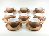 Denby Cotswold Cups and Saucers Set of 8 Stoneware England
