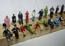 HO Scale-1:87 Hand Painted Figures-24 Pcs-Standing & Sitting-Several Poses