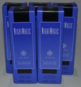 Lot of 5 - AVON Classics Collection Cologne Perfume Spray 1.7 oz - NIGHT MAGIC