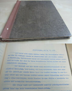 Typoskript Brief-Abschriften Odenkirchen (Mönchengladbach) 1930-40/Philosophy