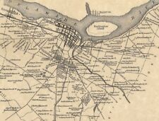 Burlington Plaza Park Springside NJ 1876  Maps with Homeowners Names Shown