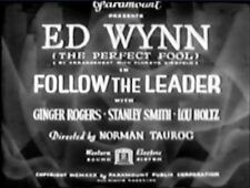 Follow the Leader 1930 Ginger Rodgers region free DVD