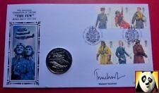 2008 Îles Falkland RAF 1 Crown WWII Signée par Vicomte Trenchard coin cover