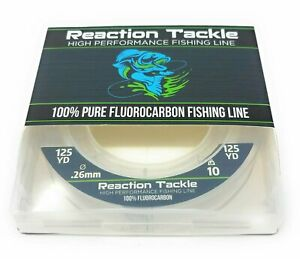 Reaction Tackle 100% Pure Fluorocarbon Fishing Line