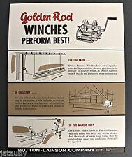 GOLDEN ROD MARINE EQUIPMENT WINCHES 2 FLYERS PRICE LIST Hastings Nebraska