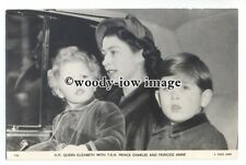 r1358 - Queen Elizabeth with Young Prince Charles & Princess Anne - postcard