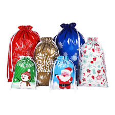 New Listing30x Christmas Sacks Reusable Drawstring Wrap Present Gift Party Bags Storage Usa