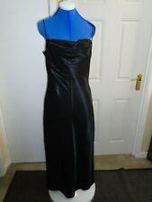 ladies long black evening dress size 12 REFLECTIONS