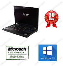 "Lenovo Thinkpad T410 Laptop i5 2.4GHz 8GB ram 250GB HDD 14"" Win10H DVDRW WTY"