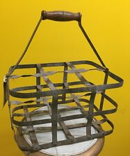 Vintage French Six Bottle Cellar Wine Bottle Carrier
