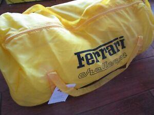 Rare OEM Ferrari 348 Challenge Yellow car cover W/ Mirror Pockets + Bag NEW! 355