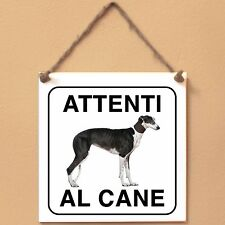 Galgo Espanol 2 Attenti al caneTarga cane cartello Ceramic Tiles