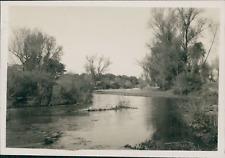 Espagne, Madrid, Rio Manzanares  Vintage print, Photographie provenant d'un