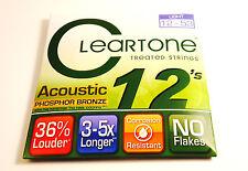Cleartone Guitar Strings  Acoustic  Phosphor Bronze  12-53  Super long life