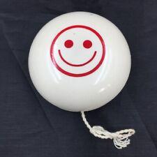 Duncan Imperial Yo-Yo White Happy Smiley Face VINTAGE  A4