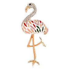 Enamel Rhinestone Flamingo Brooch Pin Shirt Collar Pin Jewelry Wedding Gift S2