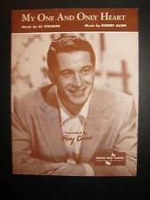 My One And Only Heart Sheet Music Vintage 1953 Perry Como Robert Allen Voice (O)