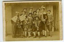 PHOTO CDV dos muet troupe d'acteurs en costume vintage albumen vers 1855