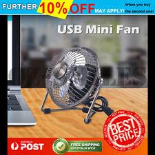 USB Cooling Desk Mini Fan Metal Notebook Laptop Computer Portable
