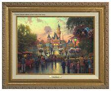 Thomas Kinkade Disneyland 50th Anniversary Canvas Classic (Gold Frame)