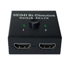 2-Way 4K HDMI Bi-Direction Switch Splitter Converter TV Projector Adapter _GG