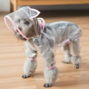 Transparent Pet Raincoat Breathable Rain Suits Dogs Outdoor Hooded Apparels New