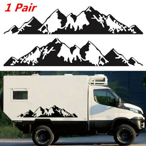 1 Pair Mountain Graphic Decal Sticker Fit For Car SUV Truck Side Door Decoration