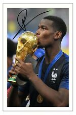 PAUL POGBA FRANCE WORLD CUP FINAL 2018 SOCCER SIGNED AUTOGRAPH PHOTO PRINT