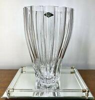 "Retired GCY19 Poland Shannon 24% Lead Crystal Hand Cut Centerpiece Vase 11.25"""