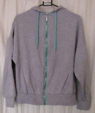 Atmosphere Womens Jumper Long Sleeves Hoodie Drawstrings Zip-Up Grey Size UK 10