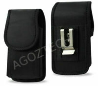 Vertical Rugged Cover Case Holster Pouch for Samsung Galaxy S21 - 6x3x0.5 inch