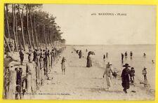 cpa Ecrite en 1921 MARENNES (Charente Maritime) PLAGE Animés Soldats Militaires