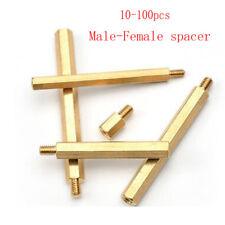 50/100X Brass  M3*L+6mm Hex Spacing Threaded Pillar Standoff Spacer