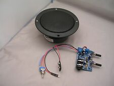 ULTRA MINI CIGAR BOX AMP KIT 9-12V W/PREMIUM SPEAKER-NO SOLDERING-FAST SHIP