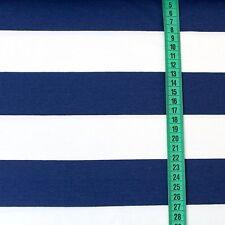 Bio Jersey Blockstreifen - marine (Stoffonkel) Ringel Streifen blau weiß