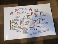 "Home Alone Battle Plan Map ( 11"" x 16.5"" )  Collector's poster Print"