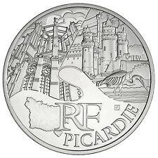 Pièce 10 euros 2011 monuments région Picardie en argent issue de rouleau - neuf