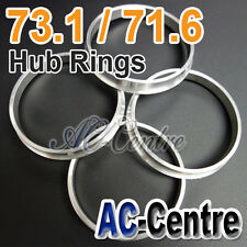 MISSION SPEED 73.1mm 71.6mm WHEEL HUB CENTRE SPACER HUB CENTRIC RING ALUMINIUM