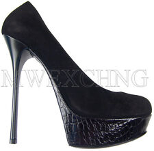 Gianmarco Lorenzi High Heels Stiletto Leather Pumps EU 38 Womens Shoes