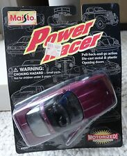 MAISTO POWER RACER MOTORIZED PULL BACK PLUM CORVETTE ZR-1 COUPE **NEW IN PKG!**