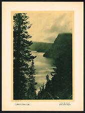 1920's VINTAGE Albert Arthur Allen CRATER LAKE OREGON Photo Photogravure PRINT