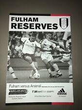 Fulham vs Arsenal Reserves 2002-3 Match Programme