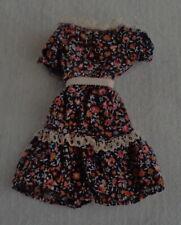 1981 vintage Pedigree SPRINGTIME SINDY 44742 jurk pop dress fashion doll outfit