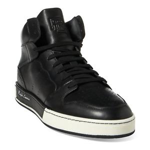Ralph Lauren Purple Label Black Giancarlo Leather Sneakers New $850