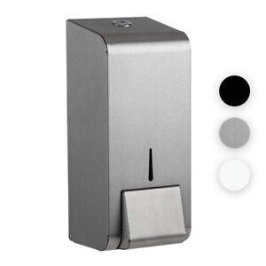Steel Liquid & Hand Soap Dispenser Wall Mounted Lockable Commercial 900ml