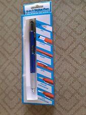 MULTI FUNCTION 6-IN-1 STYLUS PEN RULER LEVEL & SCREWDRIVER BLUE COLOR NEW ! 5-7