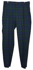 New Brooks Brothers Men Clark Plaid Regular Fit Blue Green 32x32 Trousers 5595-3