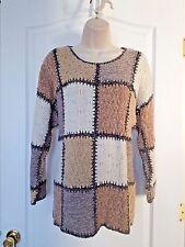Heavy Long Sleeve Sweater Neutral Multicolored Size Medium