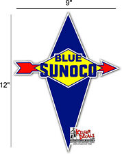 """(SUNOC-2) 12"""" 1959-74 SUNOCO GASOLINE DECAL FOR OIL CAN / GAS PUMP / LUBSTER"""