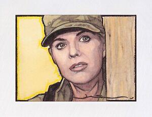 Stargate SG1 (Sam Carter) Original ACEO Sketch Card (Hand Painted 1/1)